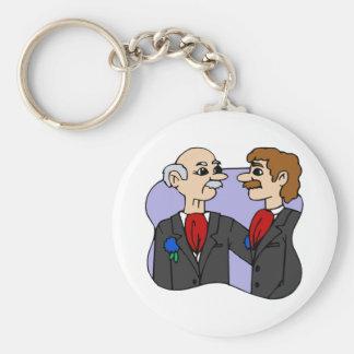 Bräutigam-Mitte gealtert Schlüsselanhänger