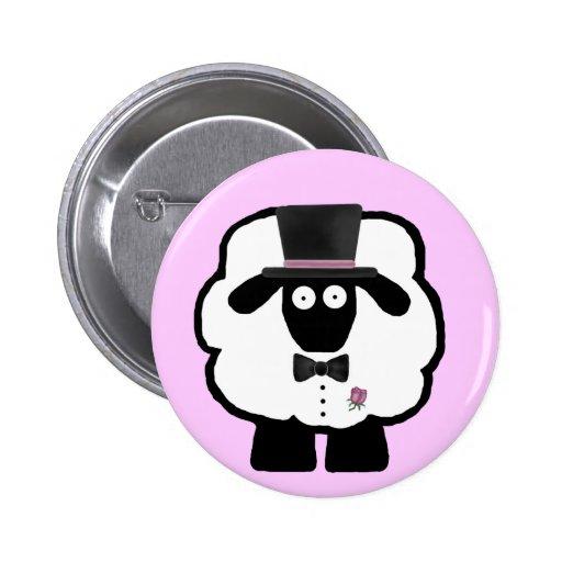 Bräutigam-Schaf-Knopf Buttons