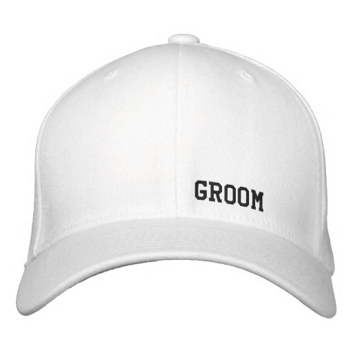 Bräutigam-Weiß-Hut Baseballmütze