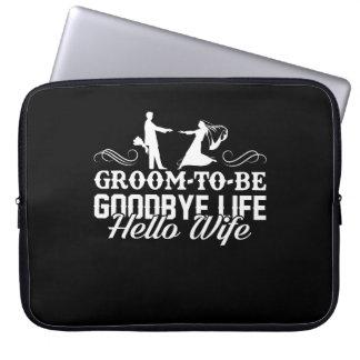 Bräutigam, zum Auf Wiedersehen Leben-hallo Laptop Sleeve