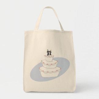 Bräutigame der Hochzeitstorte-zwei Einkaufstasche