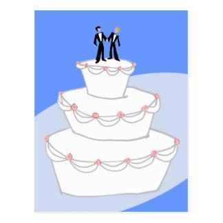 Bräutigame der Hochzeitstorte-zwei Postkarte