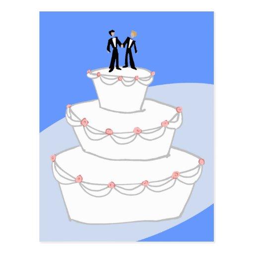 Bräutigame der Hochzeitstorte-zwei Postkarten