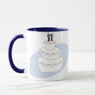 Bräutigame der Hochzeitstorte-zwei Tasse