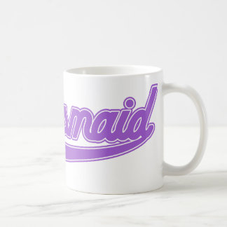 Brautjungfer (Baseball-Skript lila) Kaffeetasse