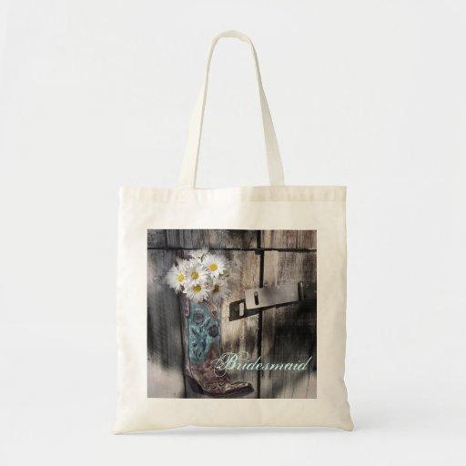 Brautjungfer des weißen Gänseblümchens der Leinentaschen