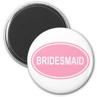 Brautjungfer, die ovales Rosa Wedding ist Runder Magnet 5,1 Cm