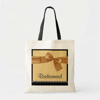 Brautjungfer GOLDImitat-Bogen und Budget Stoffbeutel