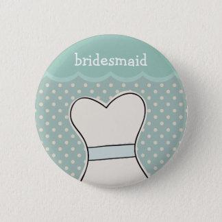 Brautjungfer -- Hochzeitskleider//-BLAU Runder Button 5,7 Cm