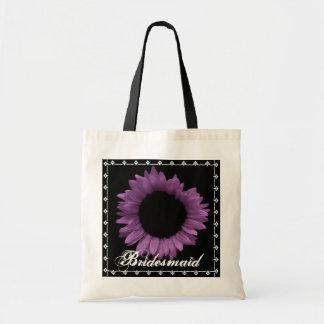 BRAUTJUNGFER lila Sonnenblume-Gastgeschenk Tragetasche