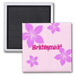 Brautjungfer Quadratischer Magnet