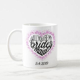 Brautjungfern-Antrag-Herz-Tasse Kaffeetasse