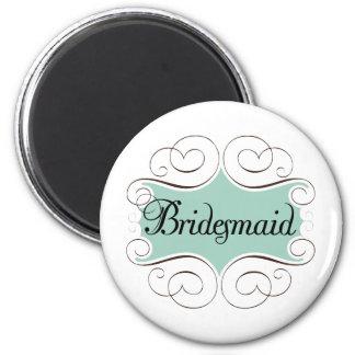 Brautjungfern-Aqua-Hochzeits-Brautparty Kühlschrankmagnete