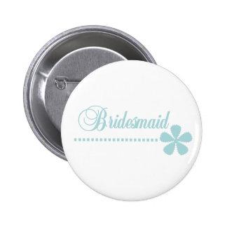 Brautjungfern-aquamarine Eleganz Runder Button 5,7 Cm