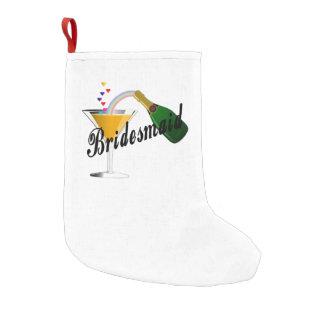 Brautjungfern-Champagne-Toast Kleiner Weihnachtsstrumpf