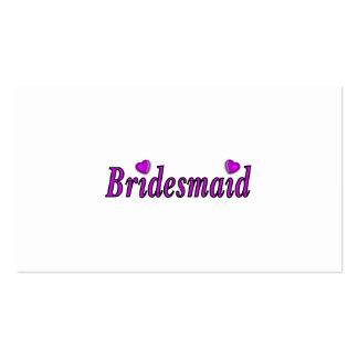 Brautjungfern-einfach Liebe Visitenkarte