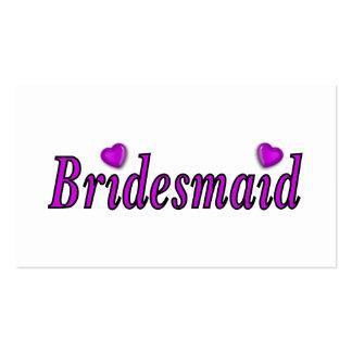 Brautjungfern-einfach Liebe Visitenkarten