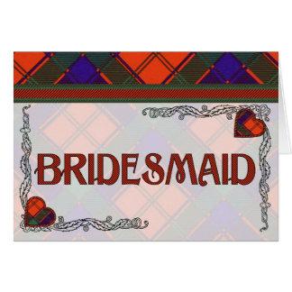 Brautjungfern-Einladung - RobertsonTartan Karte