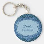 Brautjungfern-Gastgeschenk Hochzeits-blauer Vintag Schlüsselanhänger