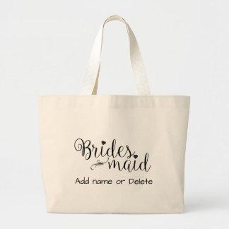 Brautjungfern-Hochzeits-Geschenk-große Jumbo Stoffbeutel