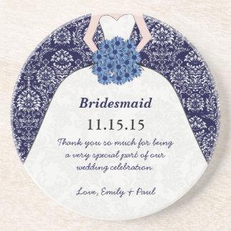 Brautjungfern-Hochzeits-KleiderUntersetzer Getränke Untersetzer