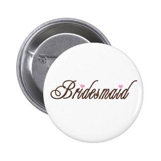 Brautjungfern-nobles Braun Runder Button 5,7 Cm