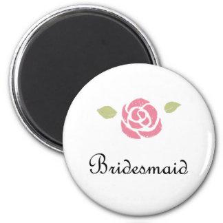 Brautjungfern-Rose Kühlschrankmagnete
