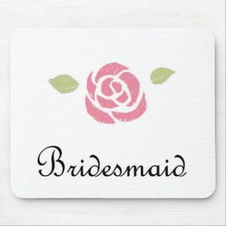 Brautjungfern-Rose Mousepad