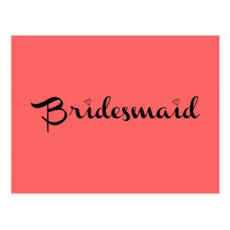 Brautjungfern-Schwarzes auf Lachsen Postkarte