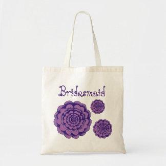 Brautjungfern-Taschen-lila Blumen Budget Stoffbeutel