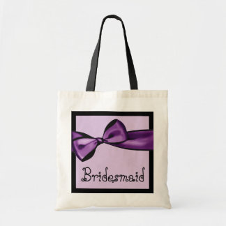 Brautjungfern-Taschen-lila Imitat-Satin-Bogen und