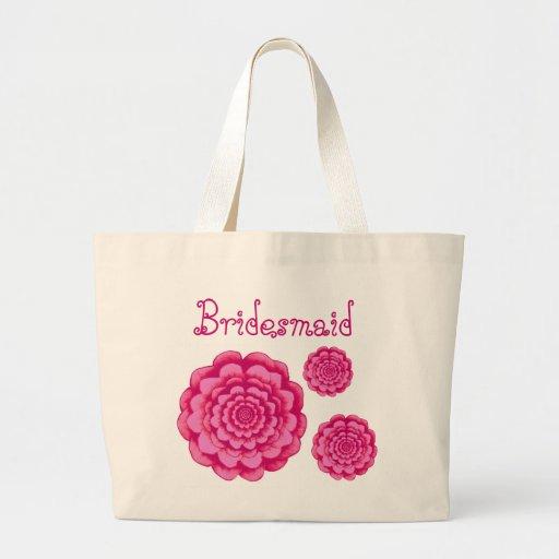 Brautjungfern-Taschen-Rosa-Gänseblümchen