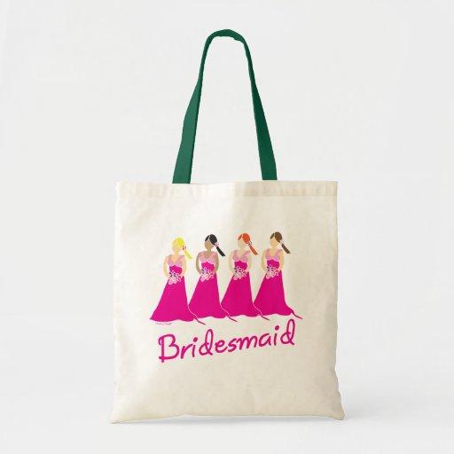 Brautjungfern-Taschen-Taschen-Rosa-Entwurf