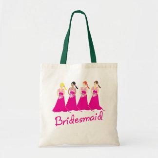 Brautjungfern-Taschen-Taschen-Rosa-Entwurf Budget Stoffbeutel