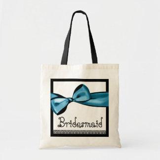 Brautjungfern-Taschen-tiefer blauer Budget Stoffbeutel