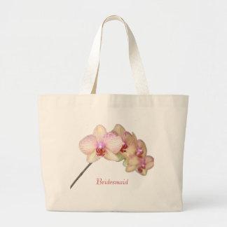 Brautjungfern-tropische schöne rosa Orchidee Jumbo Stoffbeutel