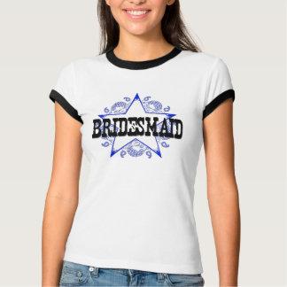 Brautjungfern-Western-Blau-T - Shirt