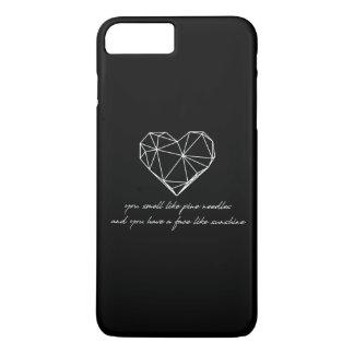 Brautjungfern-Zitat - Kiefern-Nadeln + iPhone 8 Plus/7 Plus Hülle