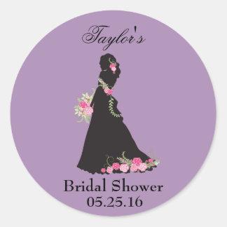 Brautkleid danken Ihnen Runder Aufkleber