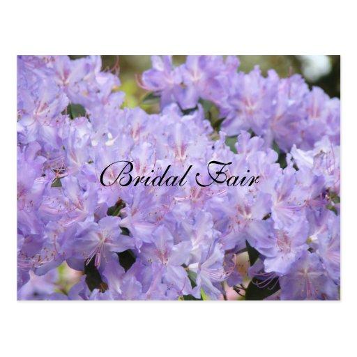 Bräutlicher angemessener Postkarten Lavendel-Blume