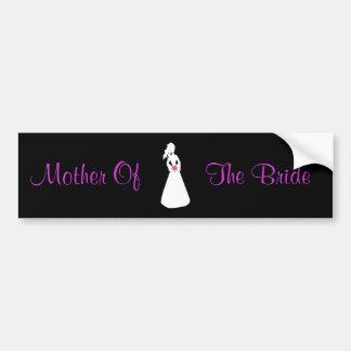 Brautmutter der Silhouette-II der Braut Autosticker