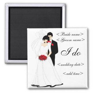 Brautpaare Quadratischer Magnet