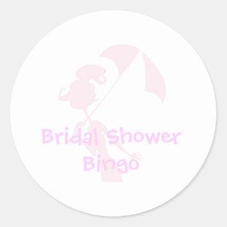 Brautparty-Bingo-Aufkleber Runder Aufkleber