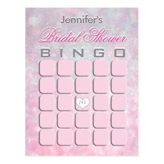 Brautparty-Bingo Postkarte