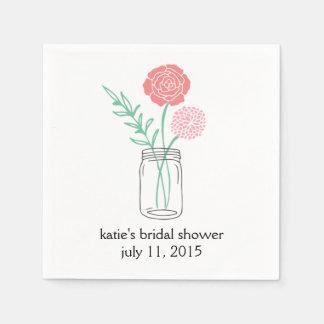 Brautparty-Cocktail-Serviette, botanisches Papierserviette