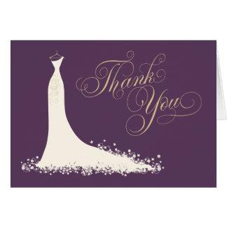Brautparty danken Ihnen zu kardieren faltete | Karte