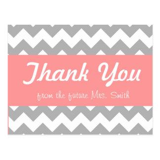 Brautparty danken Ihnen zu kardieren Postkarte