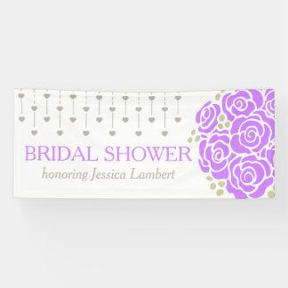 Brautparty, das lila Posynamenfahne wedding ist Banner