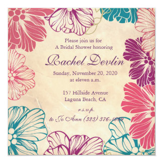Brautparty-Einladung Quadratische 13,3 Cm Einladungskarte