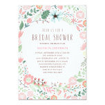 Brautparty-Einladung des Blumen-Garten-| 12,7 X 17,8 Cm Einladungskarte